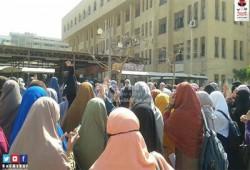 بالصور.. مسيرة طالبات الأزهر ضد أحكام الإعدام