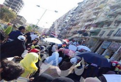 عشرات الآلاف في بورسعيد يتظاهرون بيوم الحسم