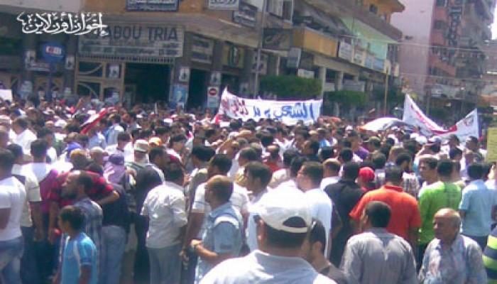 """مظاهرة ومسيرة في بورسعيد ضد تباطؤ """"المحاكمات"""""""
