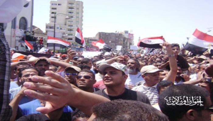 """السويس..20 ألفًا يتظاهرون بـ""""الأربعين"""" دعمًا للثورة"""