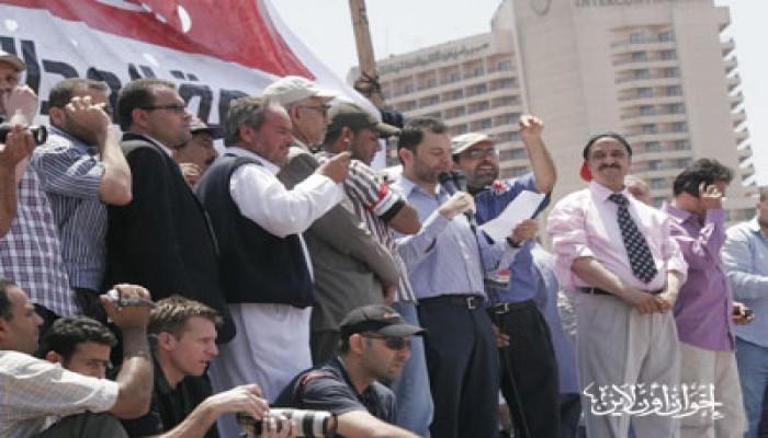 رموز القوى الوطنية بالميدان يطالبون بالعدالة والتطهير
