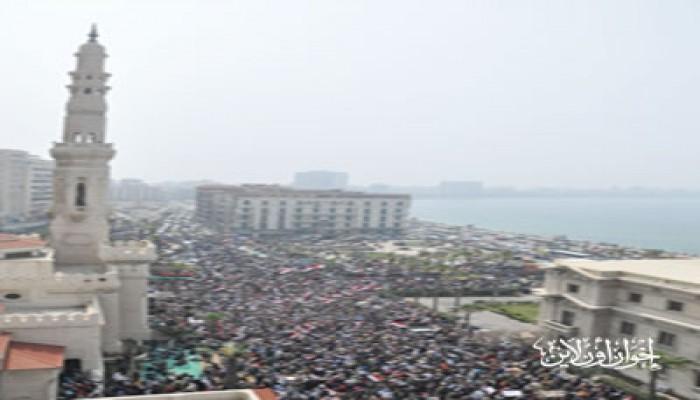 الإسكندرية.. الآلاف يتوافدون على ميدان القائد إبراهيم
