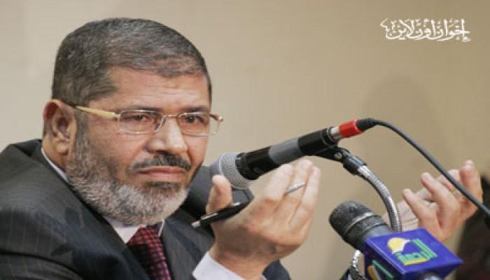 د. مرسي يطالب الشعوب العربية بمناصرة أهل غزة