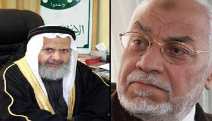 المرشد العام يتلقى عزاء إخوان الأردن في وفاة د. غازي