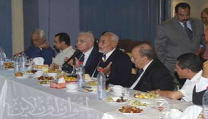 القوى الوطنية المصرية تجتمع على مائدة إفطار المرشد العام