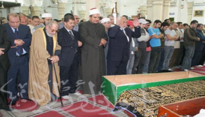 المرشد العام يشارك في تشييع جنازة الداعية الشيخ خيري ركوة