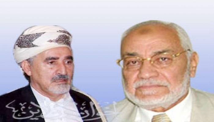 المرشد العام يهنئ الشيخ الأحمر بإعادة انتخابه رئيسًا للتجمع الوطني للإصلاح