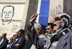 """احتجاجات فى نقابة الصحفيين رفضا لـ""""لائحة السيسي"""""""