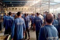 إضراب عمال شركة يونيفرسال لتأخر صرف الأجور