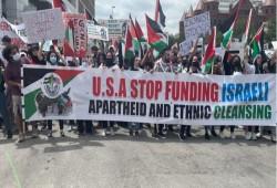 مظاهرتان في أمريكا دعمًا لفلسطين بمواجهة الاحتلال