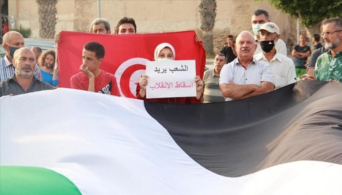 تونس.. وقفة رافضة لانقلاب سعيد