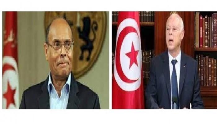 انقلاب تونس.. قيس سعيد يسحب جواز السفر الدبلوماسي من المرزوقي