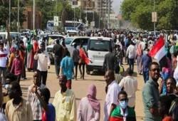 مظاهرات في السودان أمام القصر الرئاسي